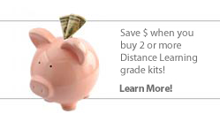 Save when you buy 2 or more Distance Learning grade kits