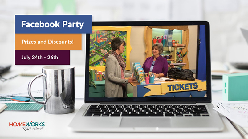Facebook Party - Prizes and Discounts - July 24-26