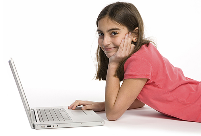 child using our online homeschool curriculum